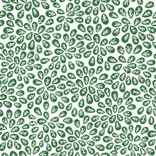 vert résumé seamless leaves pattern, vecteur de feuillage