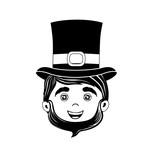 leprechaun st patricks icon image vector illustration design
