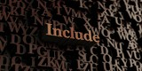 Include - Wooden 3D rendered letters/message.  Can be used for an online banner ad or a print postcard.