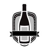 wine bottle icon image vector illustration design
