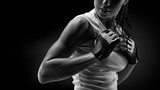 Fototapety Woman in sports clothing