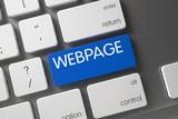 Keyboard with Blue Keypad - Webpage. 3D.