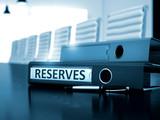 Reserves on Binder. Blurred Image. 3D.