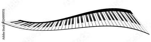 Fototapeta Piano keyboards set