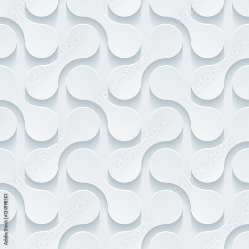Light gray seamless background. Neutral tileable vector pattern. - 124998301