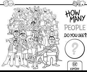 counting people game coloring page