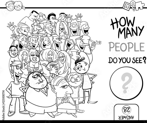 counting people coloring page
