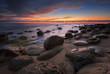Rocky sunrise / Magnificent sunrise view in the blue hour at the Black sea coast, Bulgaria