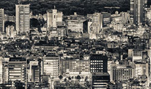 Poster Tokio Tokyo, Japan. Beautiful aerial view of city buildings at night