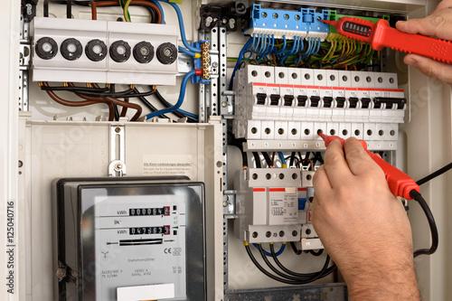 Sicherungskasten Stromprüfung Poster