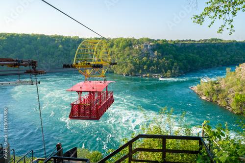 Whirlpool Aero Car at Niagara, Canada. Beautiful and scenic view of the Whirlpool at Niagara falls.  Photo by ajamils