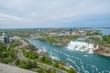 Niagara falls view from the top