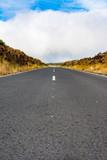 Long narrow road scenery