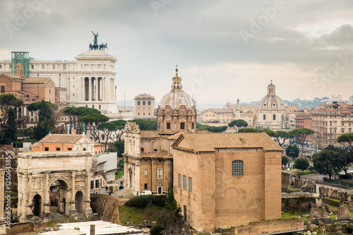 Staande foto Rome Rome ruins, Italy