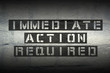 action required GR