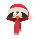 penguin christmas icon image vector illustration  design
