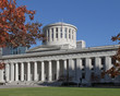 The Ohio State Capitol Building in downtown Columbus.