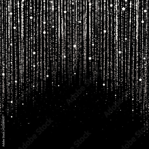 Curtain of Silver Particles