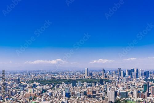 Aluminium Donkerblauw 東京 青空と都市風景