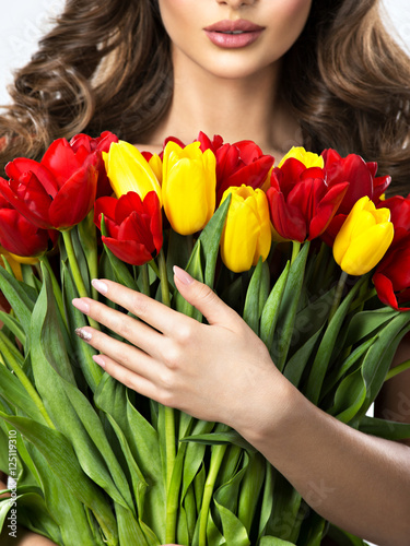 Poster Woman with flowers