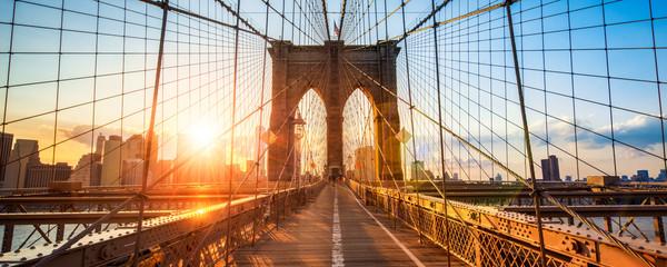 Fototapeta zachód słońca most Brooklyn