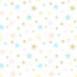 Cotton fabric Abstract seamless pattern with stars