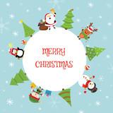 Fototapety Cute Christmas Card