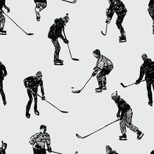 Nastolatków grających w hokeja