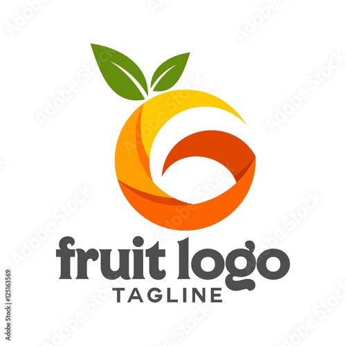 fruit vector logo - 125163569
