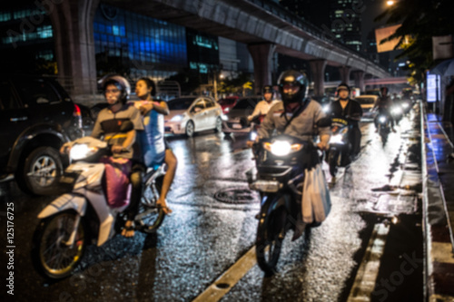 In de dag Tunnel City traffic night blurred
