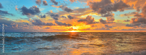 Foto op Canvas Zee zonsondergang Sea
