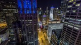 Chicago city by night