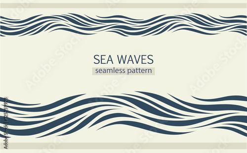 Seamless patterns with stylized waves