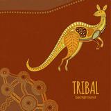 Kangaroo tribal background - 125262566