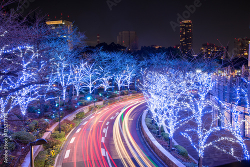 Plagát, Obraz Winter Illumination in Tokyo near Roppongi Hills