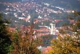 Eisenach - Blick vom Burschenschaftsdenkmal auf die Stadt