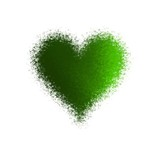 Amazing abstract diffuse green heart