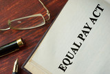 Equal Pay Act of 1963 written on a page.