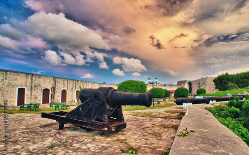 Foto op Aluminium Havana Old cannons inside spanish fort