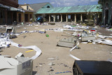 Abandoned Six Flags New Orleans - destroyed by Hurricane Katrina in 2005