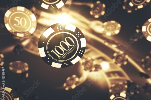 Playing Roulette Game Concept плакат