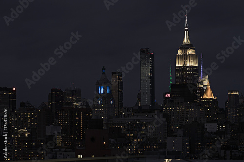 New York City Skyline at night Poster