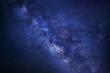 Milky Way galaxy, Long exposure photograph, with grain. - 125331786