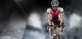 Fototapeta Scene - Sport. Cyclist has a traning in the wind tunnel © vitaliy_melnik