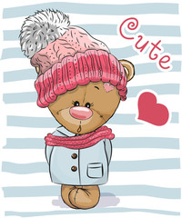 Cute Cartoon Bear girl