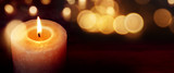 Candles with golden lights - 125353302