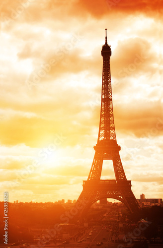 eiffel tower champ de mars paris france poster affiche acheter le sur. Black Bedroom Furniture Sets. Home Design Ideas