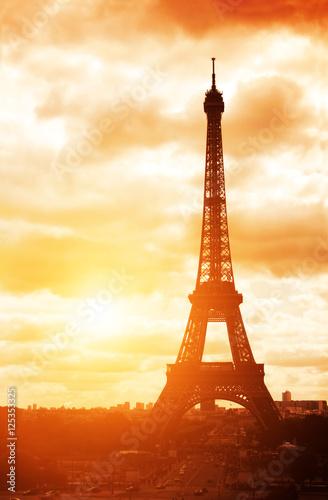 eiffel tower champ de mars paris france poster affiche acheter le sur. Black Bedroom Furniture Sets. Home Design Ideas