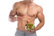 Gesunde Ernährung Salat essen Bodybuilding Bodybuilder Muskeln