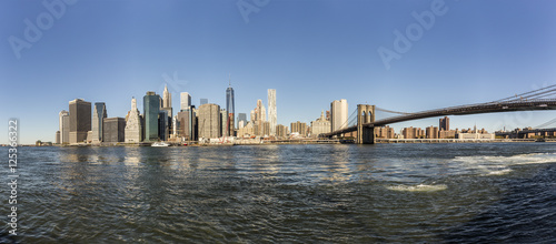 manhattan skyline seen from Brooklyn side